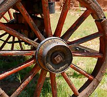 Red Wagon Wheel by David Lee Thompson