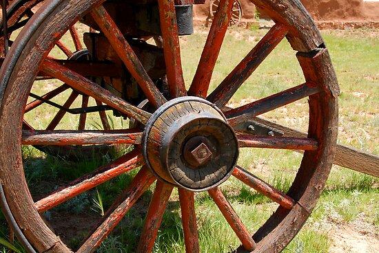 Red Wagon Wheel by David Lee Thompson