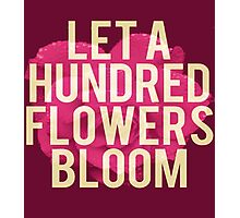 Let A Hundred Flowers Bloom Photographic Print