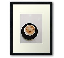 simple coffee time Framed Print