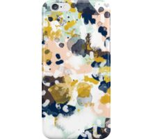 Sloane - Abstract painting in free style navy, mint, gold, white, and turquoise  iPhone Case/Skin