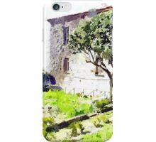 Laureana Cilento: view garden of the baronial building iPhone Case/Skin