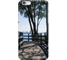 Bridge At Langmoor-Lister Gardens iPhone Case/Skin
