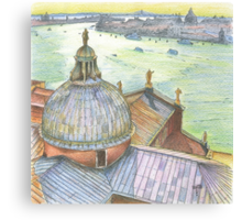 VENICE. View to Grand Canal from Basilica Di San Giorgio Maggiore.  Canvas Print