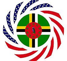 Dominica American Multinational Patriot Flag Series Photographic Print