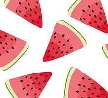 Watermelon illustration pattern by msOctopus