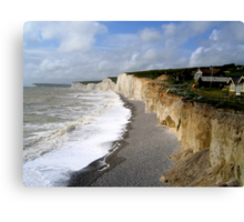 Birling Gap Landslip Canvas Print