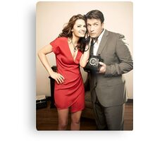 STANA AND NATHAN PHONE CASES AND MORE Metal Print
