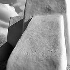 Rear Buttress, San Francisco de Asis Church, Ranchos d Taos, in Monochrome by TheBlindHog