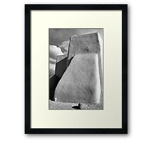Rear Buttress, San Francisco de Asis Church, Ranchos d Taos, in Monochrome Framed Print