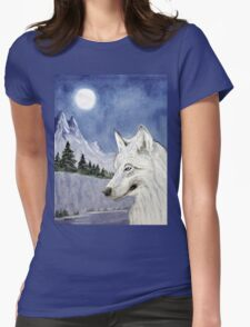 The Lone Wolf  Womens Fitted T-Shirt