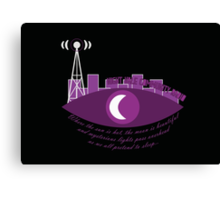 Night Vale Community Radio Canvas Print