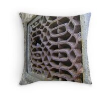 rust grille 1 Throw Pillow