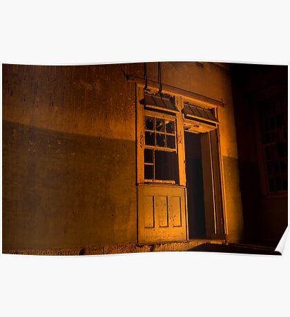 Firelit Doorway Poster