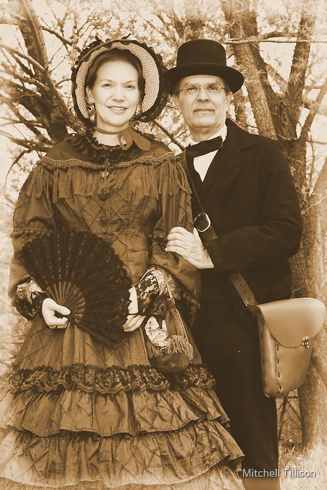 American Civil War Reenactors, Maiden and Photographer, El Rancho de las Golondrinas, Albumen by Mitchell Tillison