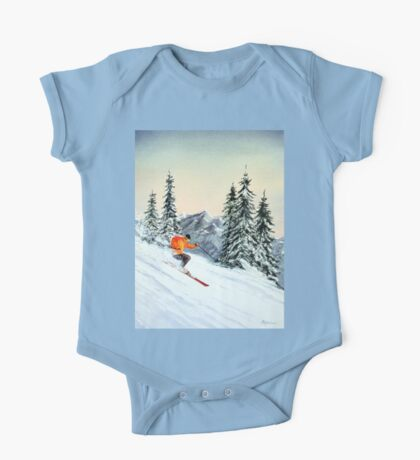 Skiing - The Clear Leader One Piece - Short Sleeve