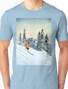 Skiing - The Clear Leader Unisex T-Shirt