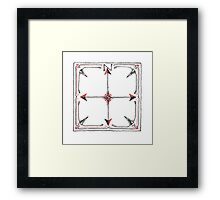 Hand Drawn Compass Framed Print