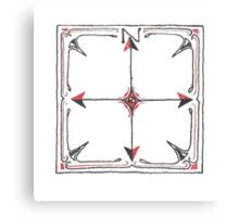 Hand Drawn Compass Canvas Print