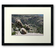 Mountains, Rocks and Sky Framed Print