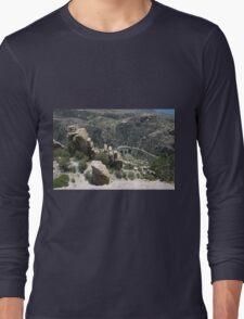 Mountains, Rocks and Sky Long Sleeve T-Shirt