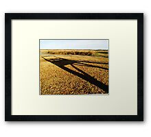 The Shadow Of The Hangman's Gallows Framed Print