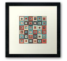 Lost in Squares V Framed Print