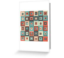 Lost in Squares V Greeting Card