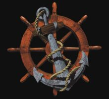 Nautical Ships Wheel And Anchor Kids Clothes