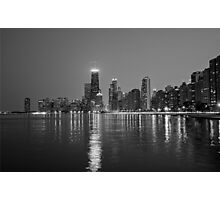 Chicago Lakefront B&W Photographic Print