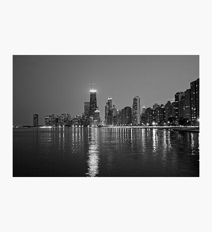 Chicago Lakefront B&W Photographic Print