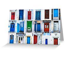 Doors of Greece Greeting Card