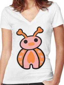 Epo, the Ladybug Women's Fitted V-Neck T-Shirt