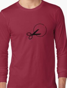 Cut here with scissors Long Sleeve T-Shirt