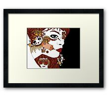 Steampunk Face Framed Print