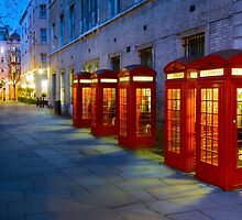 Iconic Red Telephone Boxes in Covent Garden - London, England by Yen Baet
