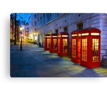 Iconic Red Telephone Boxes in Covent Garden - London, England Canvas Print