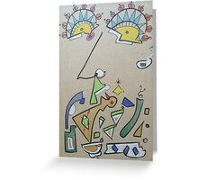 Funky face Greeting Card