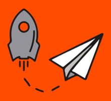 Rocket and paper airplane Kids Tee