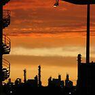 Riviera Visual - Wildfire Industrial Sunrise by RIVIERAVISUAL