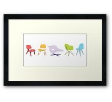 Ray & Charles Eames Chairs Classic Design Framed Print