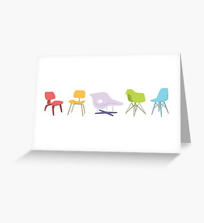 Ray & Charles Eames Chairs Classic Design Greeting Card