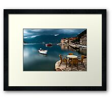 Early Morning by the Bay of Kotor in Perast, Montenegro Framed Print