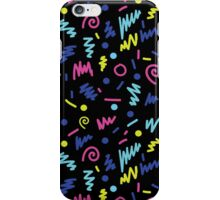 Vicky - 80s, 90s, bright neon, shapes, design, pattern, trendy, hipster, memphis design iPhone Case/Skin