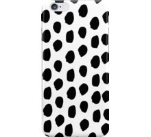 Sam - Black and White, Brushstroke,  Paint, Painterly, Design, Charlotte Winter Cell Phone Case iPhone Case/Skin