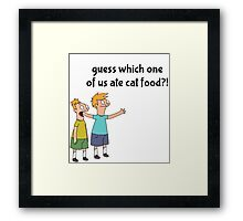 Back to you Andy Framed Print