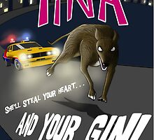 Tina On the Run (Small Poster & Prints) by jameshardy