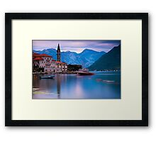 Church in Perast, Montenegro Framed Print