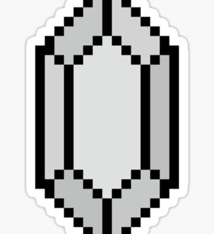 Silver Rupee Sticker