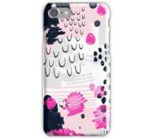 Jiri - Abstract painting in modern fresh colors navy, blush, cream, white, and gold decor girly iPhone Case/Skin